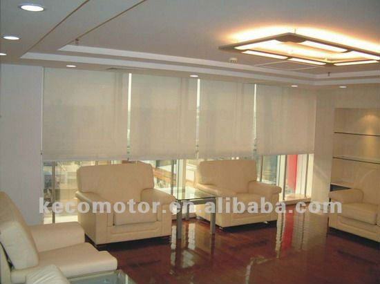 KECO electric blinds, motorized roller blind and automatic blinds with tubular motor for office