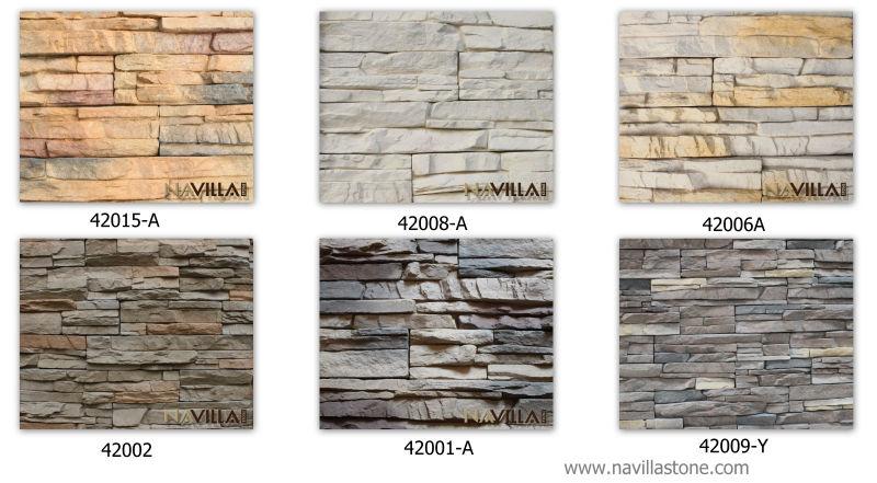 Navilla manufactured rough stacked stone veneer for wall - Piedra decorativa interior ...