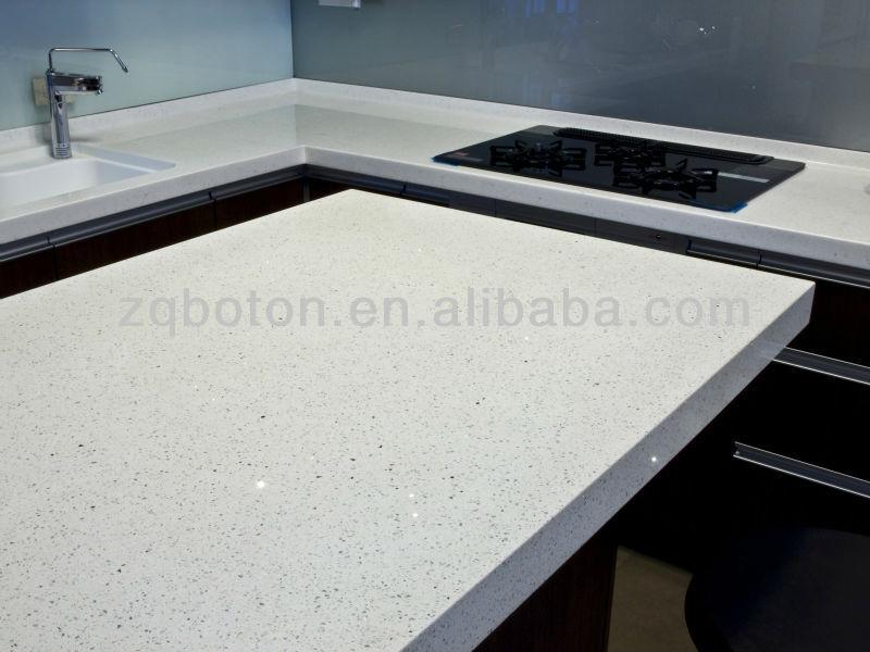 Sparkling White Quartz Slab For Kitchen Countertop Buy