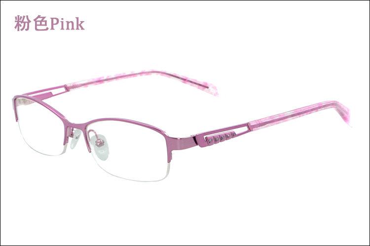 latest style spectacle frames gbj5  New Model Half-Rim Metal Latest Design Women's Fashion Spectacle Eyewear  Frames