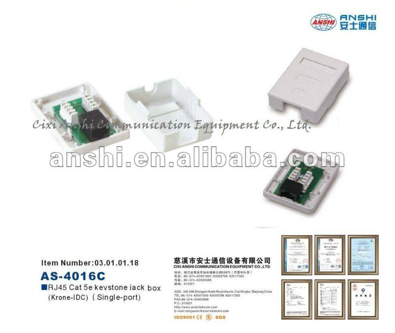 cat5e rj45 through wiring to adaptor view through coupler adaptor