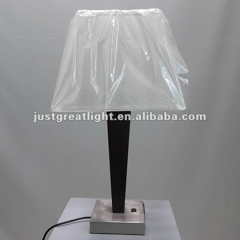 wooden base power outlet bedside lamp for hotel buy. Black Bedroom Furniture Sets. Home Design Ideas
