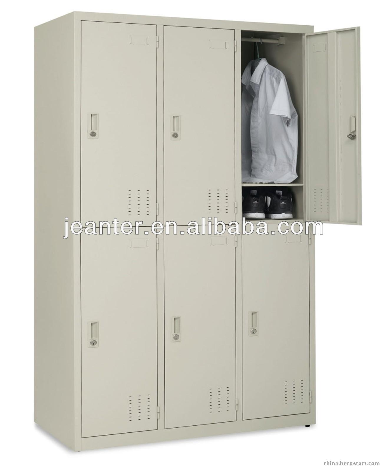 Wohnzimmerschrank Royal Oak Dormitory Metal Furniture 6 Doors Wardrobe Closet