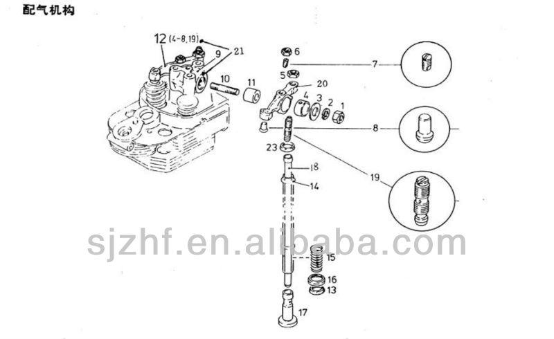 deutz fl912    913 engine parts rocker arm assy