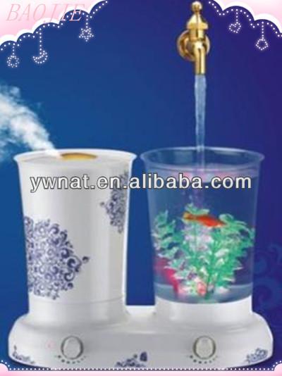 Multifunctional mini aquarium mini usb fish tank desktop for Humidifier cleaning fish