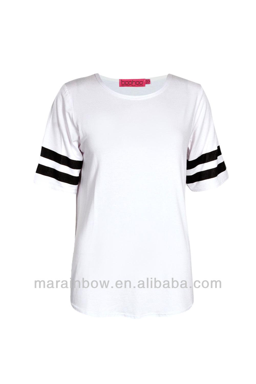 Plain white basic baseball tee high quality blank design for Where to buy blank t shirts in bulk