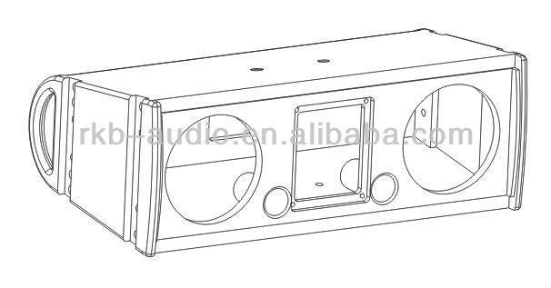 la-206 top -dual 6 5 inches mini array speakers