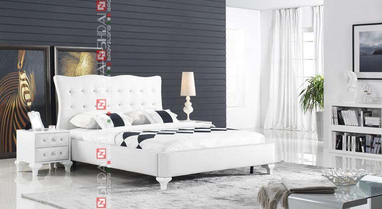 Dubai Modern Furniture Design Bedroom Furniture Fabric Bed