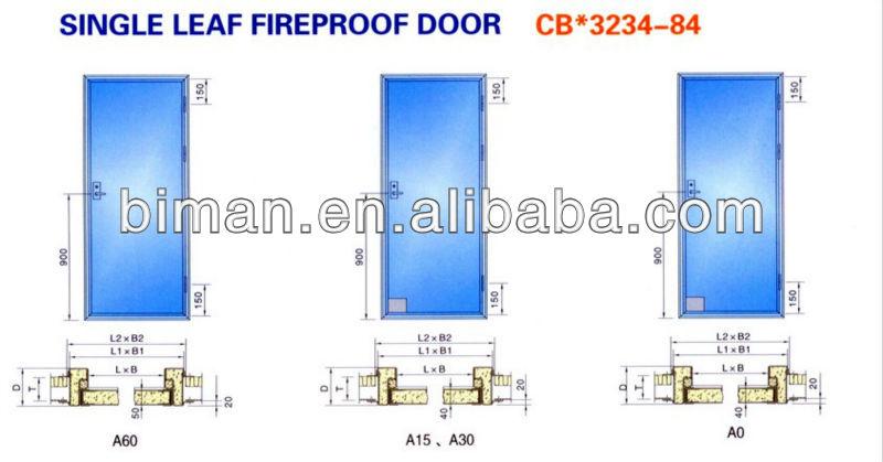 Class b30 fireproof door 1 hour fire rated door with for 1 hour fire door specification