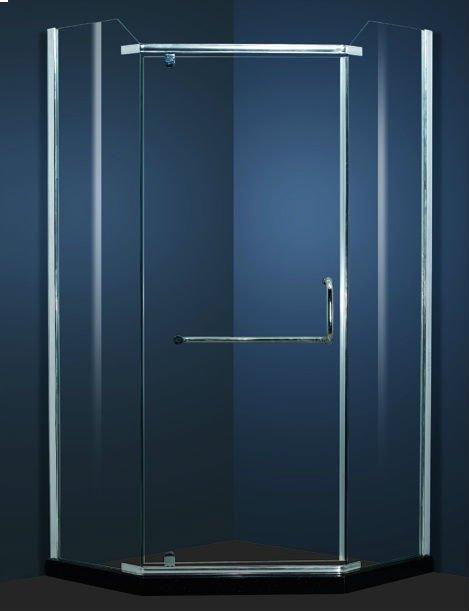 Good design glass stainless steel swing 180 degree shower for 180 degree swing door