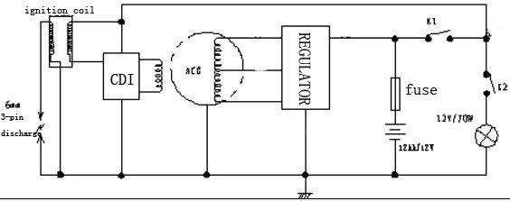 cf250 regulador moto piezas