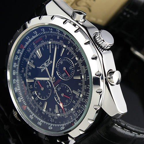 brand luxury gent men black aviator automatic mechanical watch brand luxury gent men black aviator automatic mechanical watch wm143