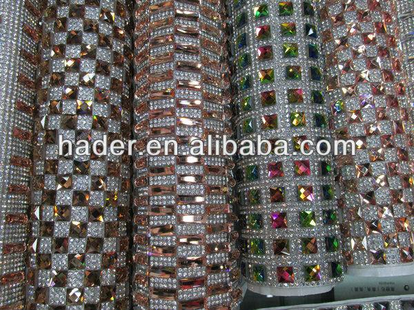 Glitter Glass Rhinestone Sticker Sheet Self Adhesive Glass