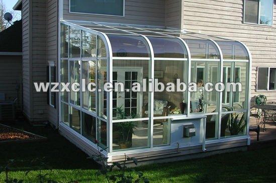 Slant roof sunroom conservatory weatherproof waterproof - Techos de aluminio para terrazas ...