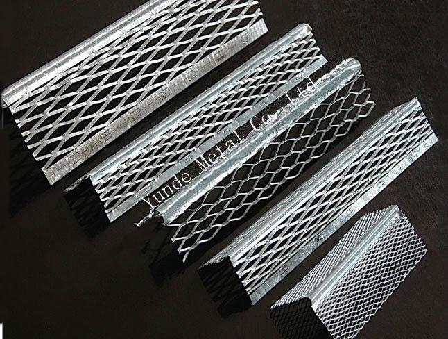 Metal Corner Bead : Galvanized aluminum wall corner bead perforated mesh
