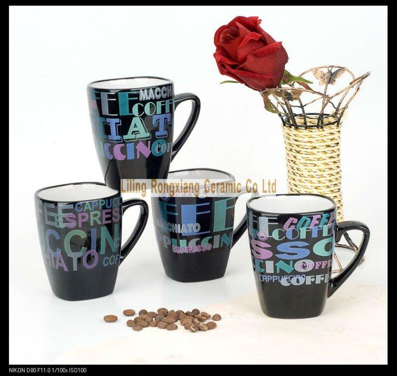 Square Shape Unique Shape Ceramic Coffee Mug View Ceramic