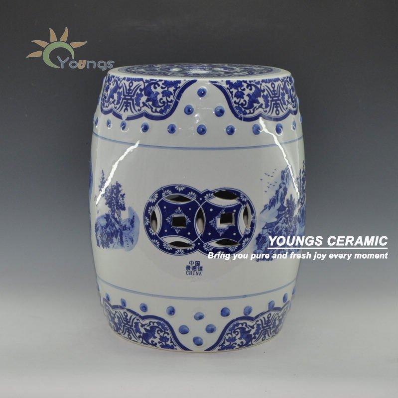 chinese antique blue and white porcelain floral garden. Black Bedroom Furniture Sets. Home Design Ideas
