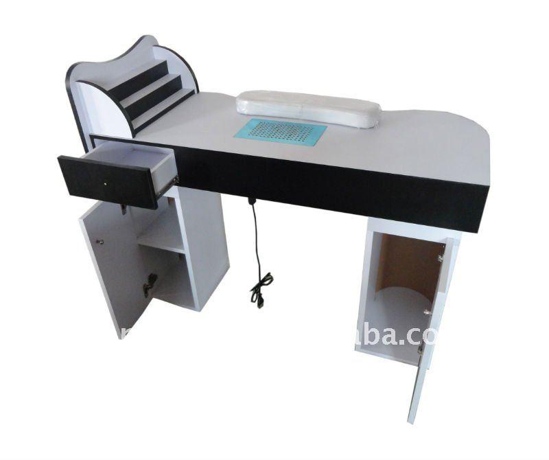 Nail station hairdressing furniture manicure desk rj 8604 for Nail desk light