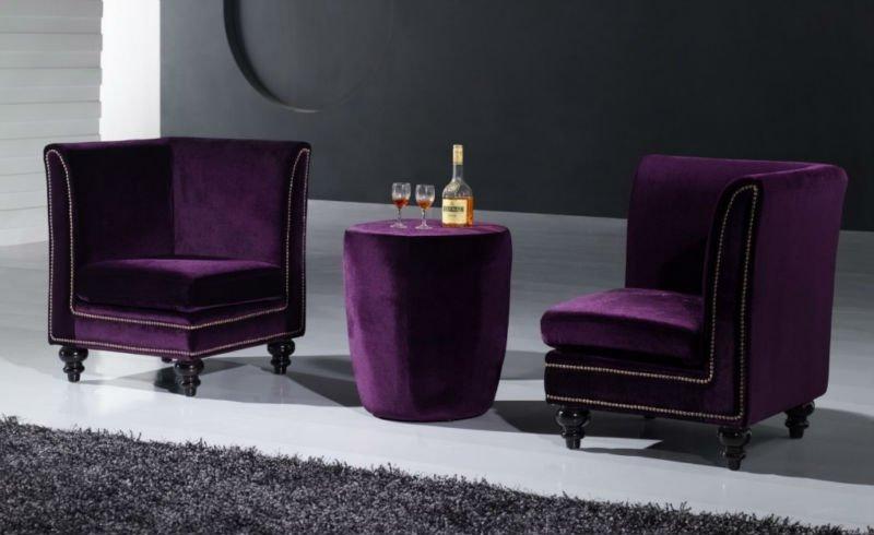 Purple Leather Sofa Sectional Velvet