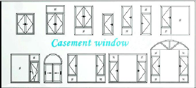 aluminium casement window drawing  aluminum windows