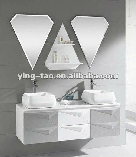 White Hanging Cheap Bathroom Bathroom Sink Base Cabinets