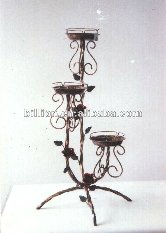 Decorative Wrought Iron Flower Pot Stand Metal Flower