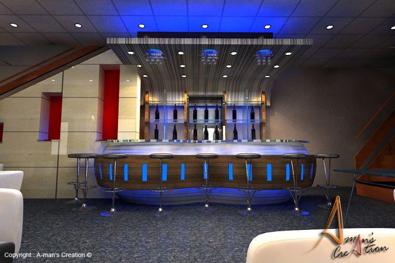 wooden bar counter top salad bar modern home bar