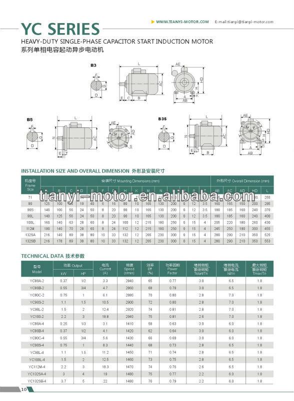 China Made Single Phase 3 Hp Motor Capacitor - Buy 3 Hp Motor,3 Hp ...