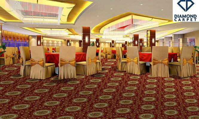 Modern Commercial Royal Design Printed Plush Stock Carpet