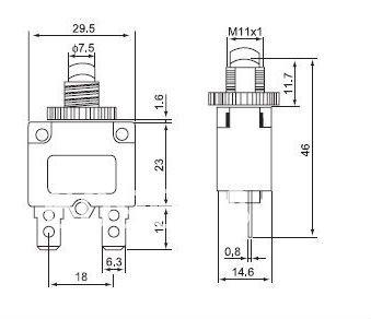 Manual Reset Circuit Breaker further  on fuse in breaker box wont reset