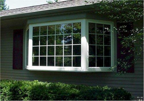 Pvc baie et bow window buy fen tre de baie de pvc fen tre d 39 arc fen tre de pvc product on - Fenetre baie window ...