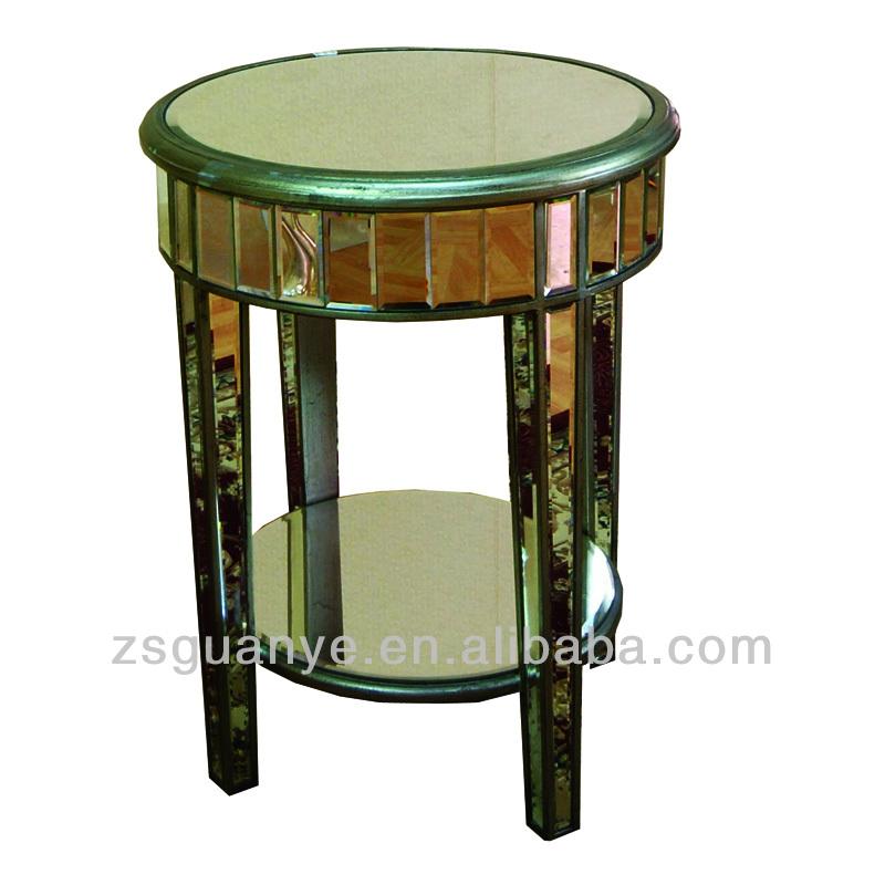 Mirror side tables bedroom