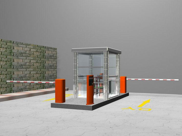 Rfid Laser Garage Parking System Rfid Car Park Barrier