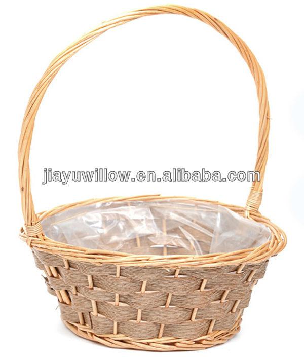 Wicker baskets with purple liners : Recgtangle wicker plant baskets plastic liner buy