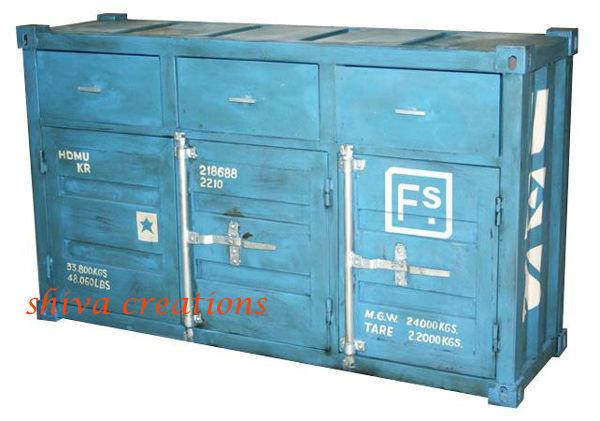 Industrielle conteneur mobilier design buy product on for Replique mobilier design
