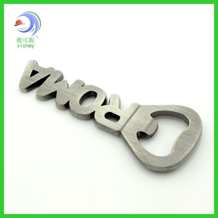 2012 Newest Roma logo letter opener metal bottle opener magnet (KCIT-0090)