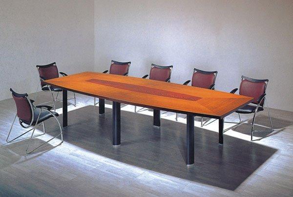 Office long meeting table mdf long table desk modern for Long desk table for two