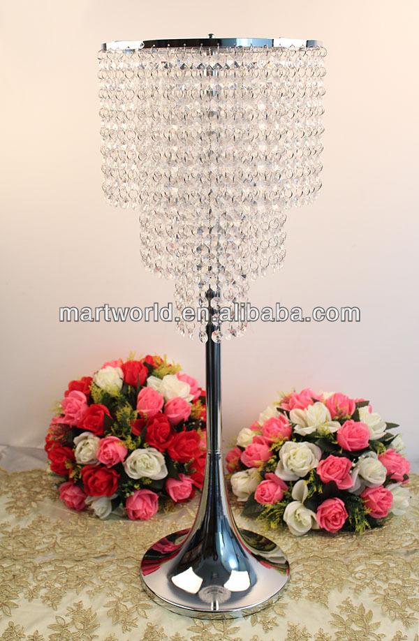 Silver tall wedding candelabra centerpiece candle