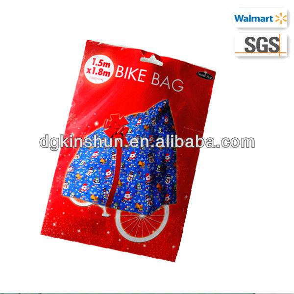 Christmas giant size gift bag plastic bike cover buy