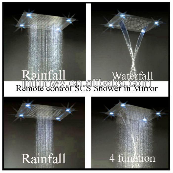 Led Rain Shower Set Ceiling Mounted Multifunction Remote Control Led Rain  Shower Set