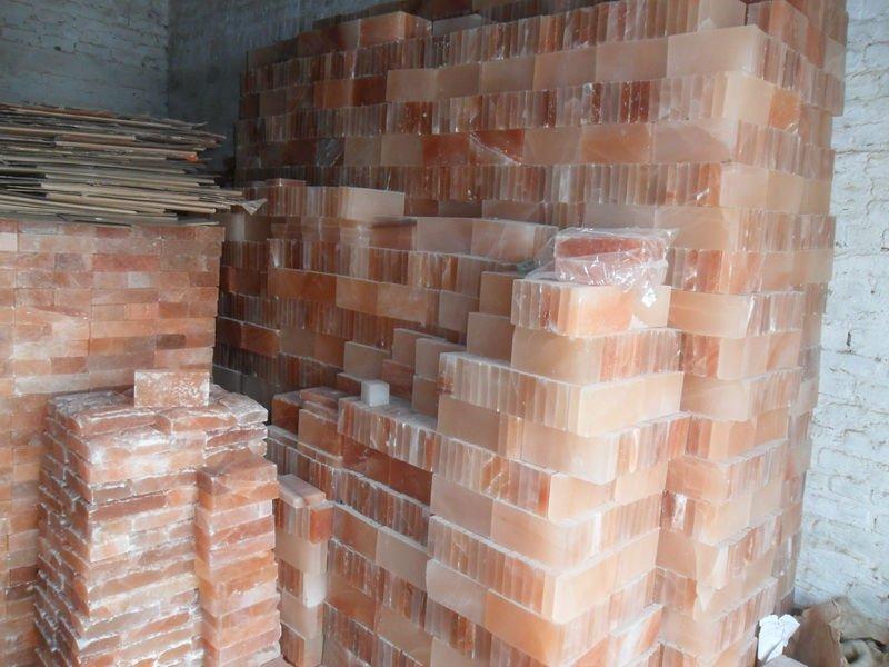 Rectangle Pink Crystal Himalayan Rock Salt Tiles And