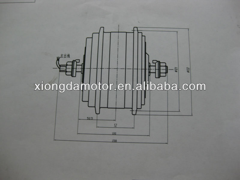 Xiongda double speed Motor/Ebike Motor/Electric Bicycle Motor with High Torque