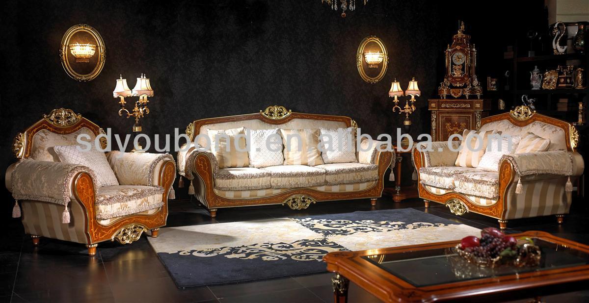 10052 High Quality Antique Living Room Fabric Italian Classical Sofa Part 77