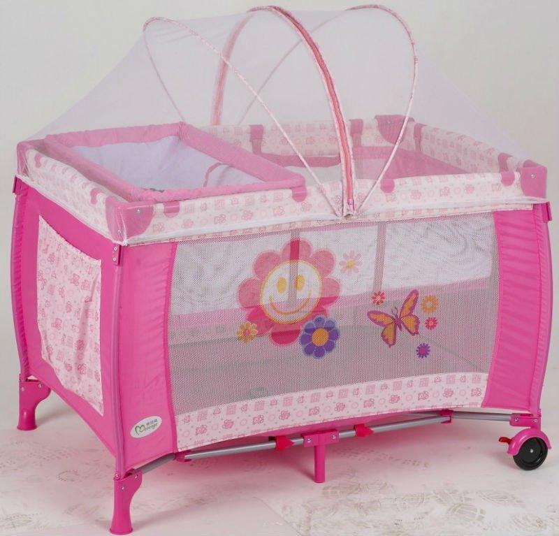 2015 New Design Princess Style Baby Play Yard Playpen Crib