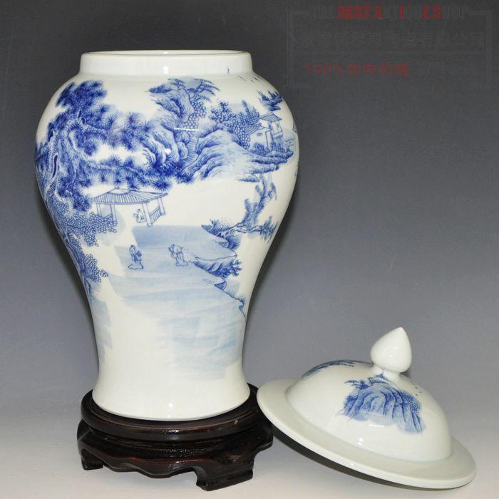 decorative chinese blue and white ceramic porcelain ginger. Black Bedroom Furniture Sets. Home Design Ideas