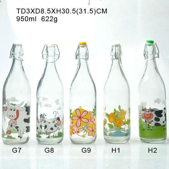 1 L Swing Top Glass Milk Bottle Buy Glass Bottle 1l