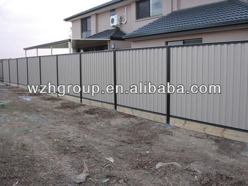 Galvanized Corrugated Steel Sheet Temporary Fences