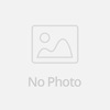 Red And Green Leather Keychain With White Stitching