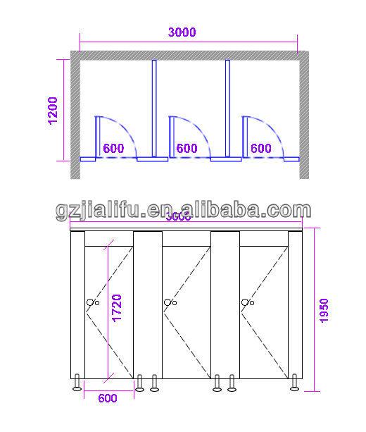 Jialifu Playtime Nursery Washroom Toilet Cubicles Door For
