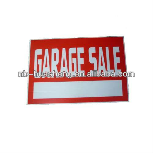 pp corrugated plastic sign